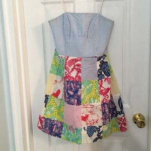 Lilly Patchwork Dress 4th Of July Seersucker
